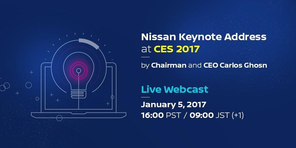 Nissan también se presentará en CES 2017