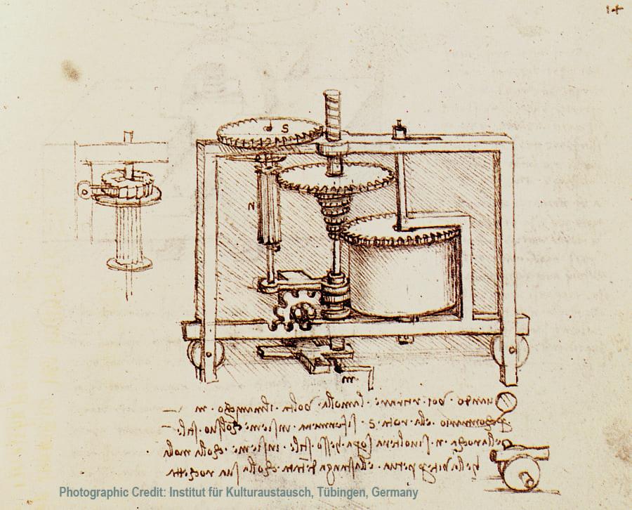 Caja de veolocidades de Leonardo DaVinci