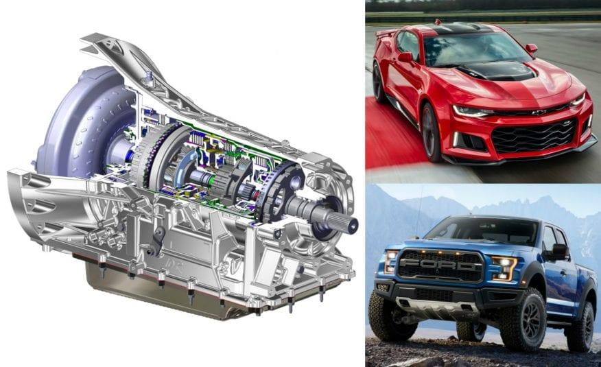 Transmisión de 10 velocidades de Ford y General Motors
