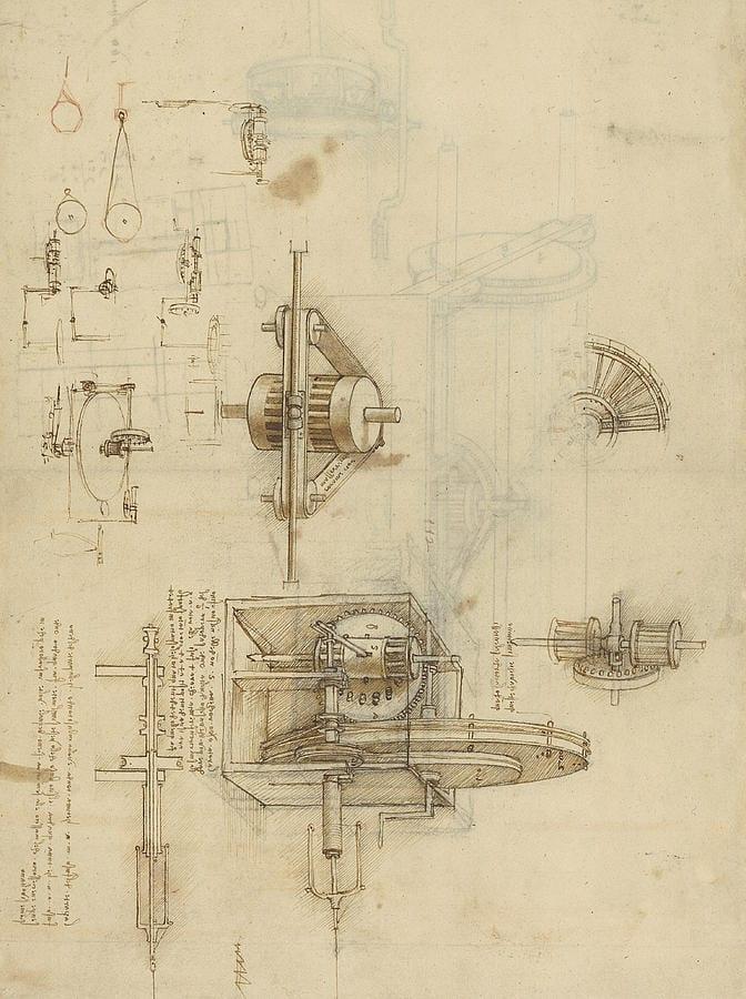 Una de las creaciones de Da Vinci que empleaba este sistema