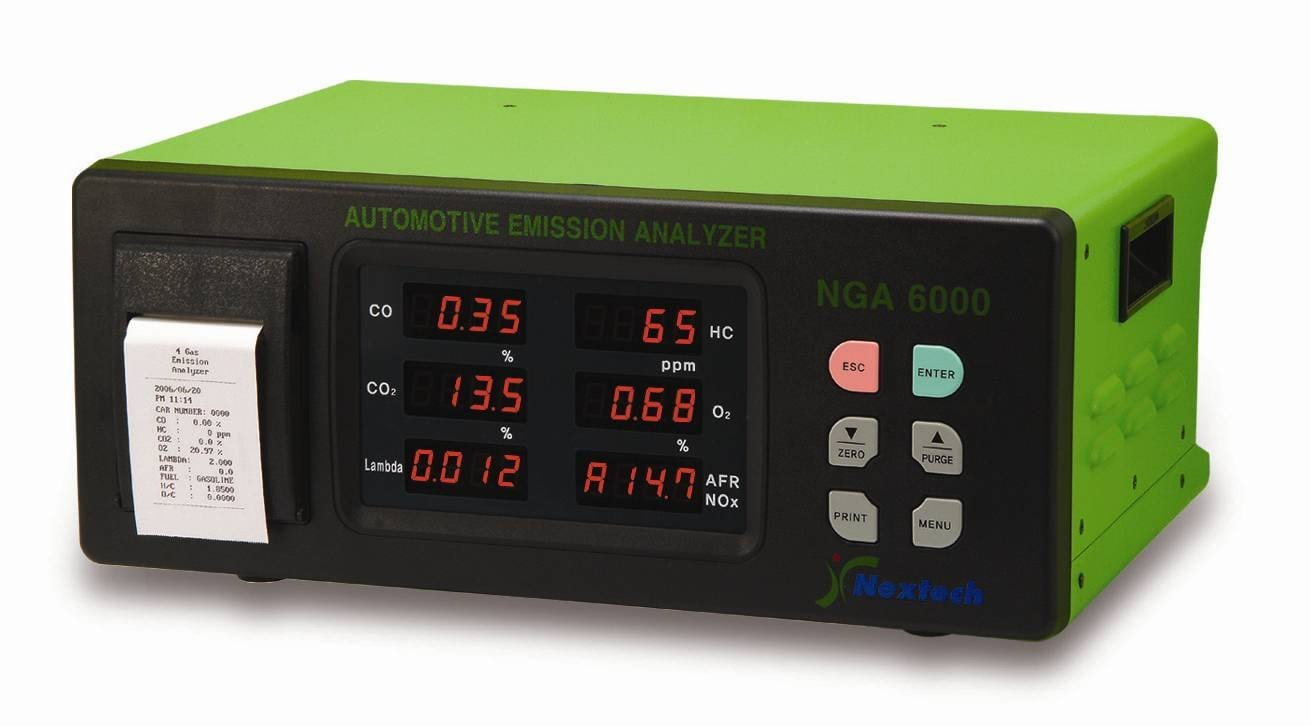 Manejo de analizador de cuatro gases para verificación vehicular